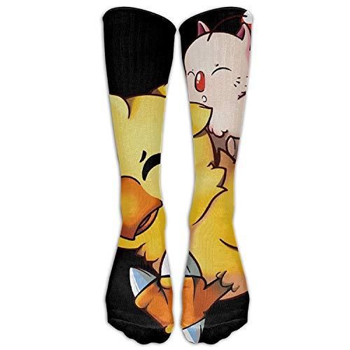 UFHRREEUR SADDFAWW Final Fantasy Mog and Chocobo Women Tube Knee Thigh High Stockings Cosplay ()