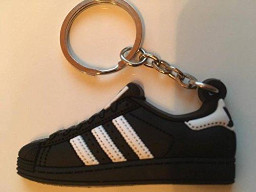Preisvergleich Produktbild Adidas Superstar Schlüsselanhänger Schwarz Sneaker Keychain Black