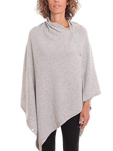 Dalle Piane Cashmere - Poncho with buttons cashmere blended yarns - Women