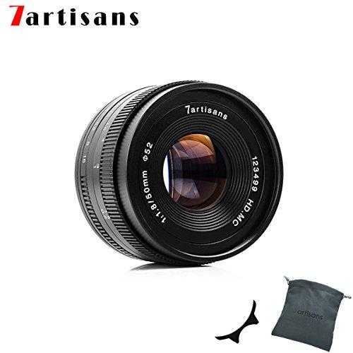 7artisans 50mm F1.8 APS-C Manuelle Fixed Objektiv für Sony E-Mount spiegellose Kamera wie Sony A6500 A6300 A6000 A5100 A5000 NEX-3 NEX-3 N nex-3r NEX-F3 K-5 -