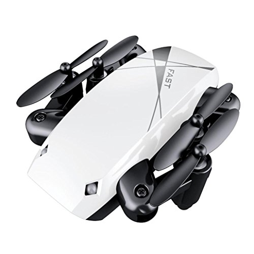 GJKK RC Drone S9 Radio Ferngesteuerte Flugzeuge Faltbare RC Quadcopter Pocket Drohne Quadcopter Drone Spielzeug Modellbau Flieger Mini Drone Tragbare Drohne Draussen Drohne Drohne Höhenhaltung Mini Pocket (Weiß)