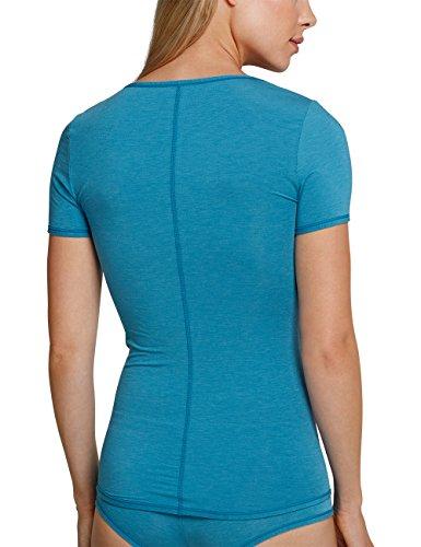 Schiesser Damen Unterhemd Blau (Atlantikblau 899)