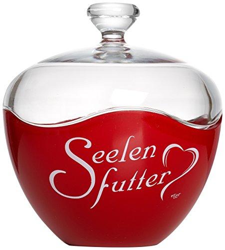 Ritzenhoff & Breker Glasdose Seelenfutter, 13x15 cm, Rot