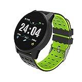 Sport Smart Watch Uomo Donna Pressione sanguigna attività Impermeabile Inseguitore di Fitness Cardiofrequenzimetro Smartwatch GPS Android iOS, Verde