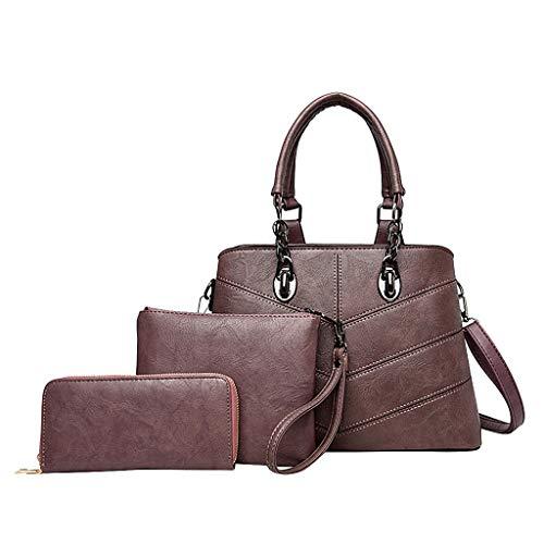 Linkay Damen Tasche, 3St Handtasche Neuer HeißEr Verkauf Wild Muster Solide UmhäNgetasche Rucksack Mode 2019-Lila