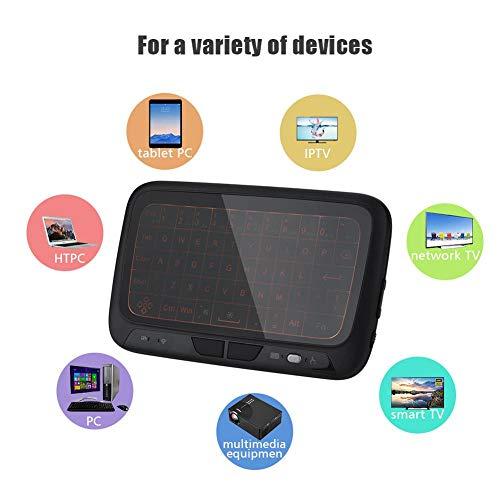 Air Mouse Keyboard, Plug & Play, Intelligente menschliche Interaktion, Mit eingebauter 400-mAh-Batterie, 2,4-GHz-RF-Technologie, 2,4-G-Mini-Fernbedienung für die drahtlose Tastatur mit Hintergrundbele