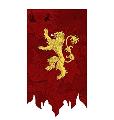 Juego de Tronos Banner Casa Banderas Sigil de Pared (65X100CM), Banderas Colgando de la Barra del Club salón decoración del Dormitorio