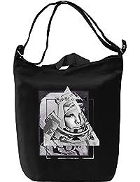 Gagarin Bolsa de mano Día Canvas Day Bag| 100% Premium Cotton Canvas| DTG Printing|