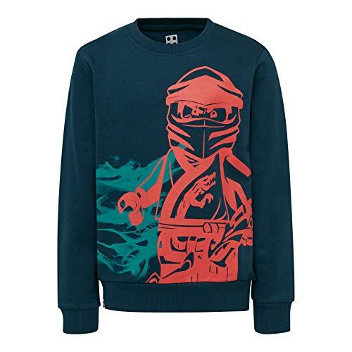 LEGO Jungen CM-50421-SWEATSHIRT Sweatshirt, Grün (Dark Khaki 889), (Herstellergröße: 140)
