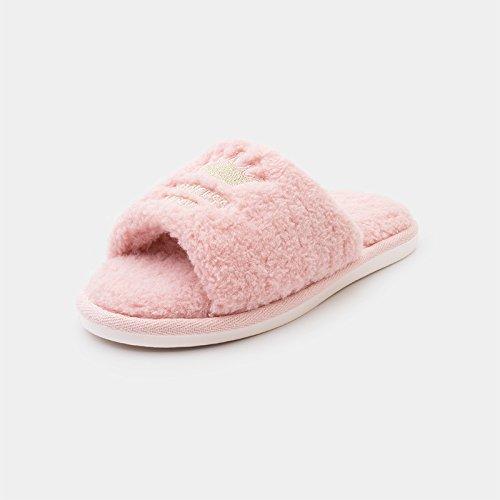 Inverno fankou pantofole di cotone matura in autunno e inverno caldo carino fondo spesso pantofole di uomini e donne home metà pack con cotone pantofole Grün