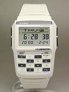 Casio - DBC-32C-8DF Montre sport Homme Résine - Quartz Digitale - Calculatrice - Répertoire - Chrono - 5 Alarmes - Fuseaux Horaires - Convertisseur - bracelet resine blanc