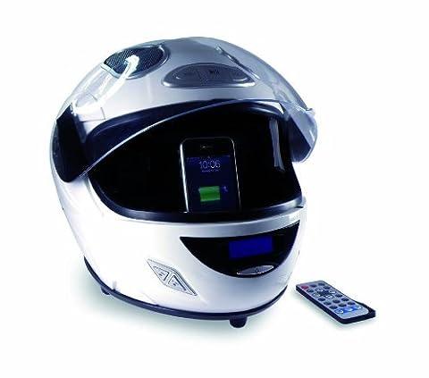 Originalgetreuer Replica Helm aus Kunststoff mit iPhone/iPod Dock weiß