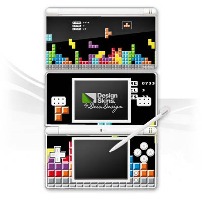 DeinDesign Nintendo DS Lite Case Skin Sticker aus Vinyl-Folie Aufkleber Spiel 8-Bit Tetris Bunt