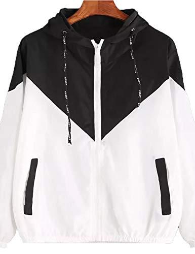 Ceanfly Windjacke Herren/Damen Windbreaker Kapuzenjacke Streetwear Unisex Outerwear Wasserdicht Jacke Springswear