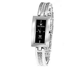 Diamonds Metal Silver So Charm Bracelet Ladies Watch