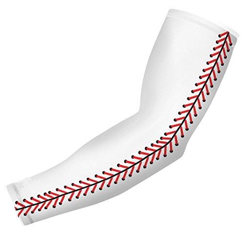Nexxgen Sportbekleidung Kompressionsarmmanschette (einzeln) - 40 Styles und Farben - Weiß - Large -