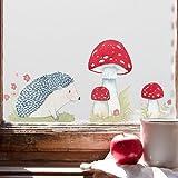 Tinyfoxes Fensterbild Herbstigel - Wiederverwendbare Herbstdeko fürs Kinderzimmer