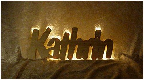 """Schlummerlicht24 Nachtlicht """"Kathrin"""", LED-Lampe mit Name und Farbe ..."""
