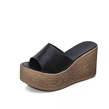 Donne'spantofole & flip-flops Comfort estivo PU Casual Tacco a cuneo a piedi US6.5-7 / EU37 / UK4.5-5 / CN37