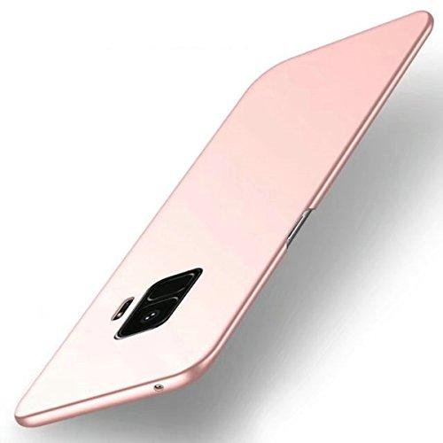 Tianqin Funda Samsung Galaxy S9, Ultra-Delgado Carcasa Protectora Ultra Ligera PC Plástico Duro Case Anti-Rasguños Parachoque Estilo Simple para Samsung Galaxy S9 Estuche - Oro Rosa