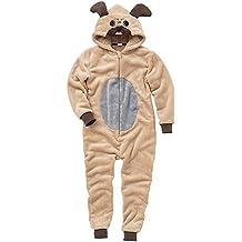 ONESIES Animal Crazy Childs Boys Girls Supersoft Pug Dog Jumpsuit Playsuit