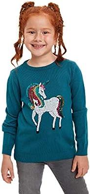 DeFacto Girl's Unicorn Sequin Detailed - Jersey de p