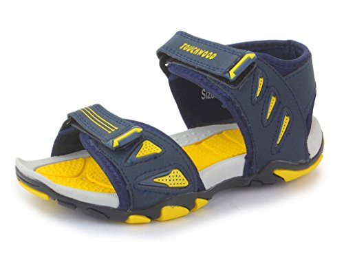 Touchwood Men's Synthetic Zoom Navy Blue/Yellow Sandals and Floaters -5 IND/UK