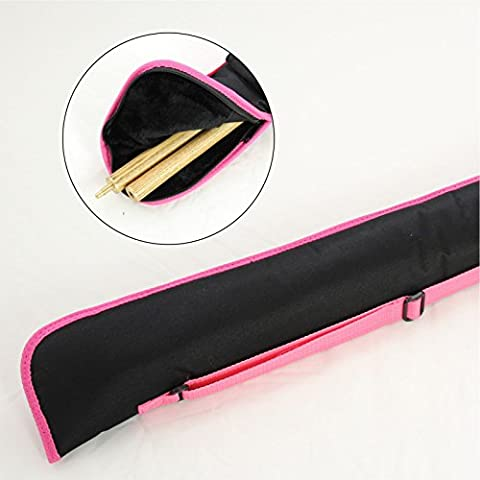 Quality Fur Lined BLACK with PINK Piping 2pc Cue Case for Snooker Pool Cue