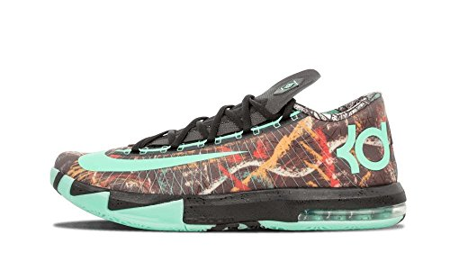 Nike - KD VI - As Nola Gumbo All Star Spiel Illusion Edition Herrn Basketball Turnschuhe 647781 930 Sneaker Schuhe Kevin Durant - Mehrfarbig Grün Schwarz, Synthetik, 48.5 (Herren Edition Basketball Schuhe)