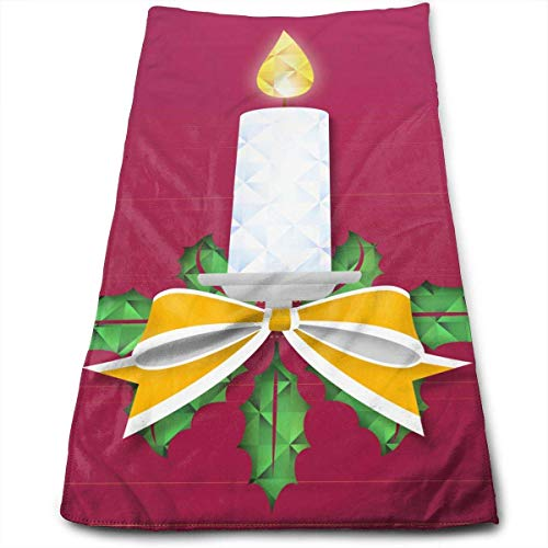 ewtretr Handtücher, Christmas Candle Multi-Purpose Microfiber Towel Ultra Compact Super Absorbent and Fast Drying Sports Towel Travel Towel Beach Towel Perfect for Camping, Gym Ultra Compact Candle