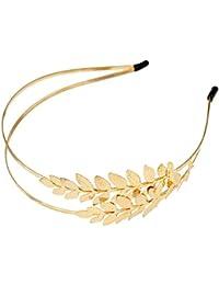 Diadema idealway color oro con hojas