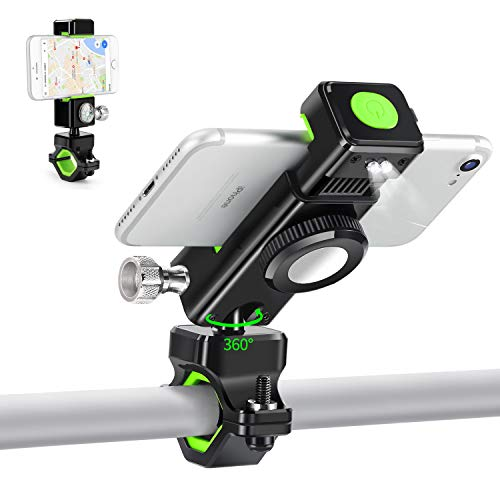 EJIKER Movil Stand Bicycle Bike and Motorcycle Universal Mount Bike Handlebar 360 Rotation Compatible iPhone, Samsung Smartphones and GPS