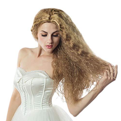 Frauen Sexy Party perücke Maisheiß kräuselt, Bluestercool Damen mode Langes Gold Kleine Lockige Haare Wellenförmige ()