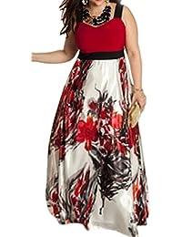 55b7f52f37f5 Le Donne Vestito Elegante Casacca Floreale Taglia Il Vestito del Ballo