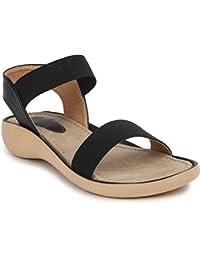 Shenaya Women's Mesh Adjustable Strap Flats