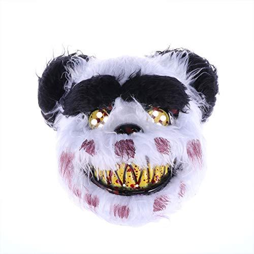 Amosfun Gruselige Halloween Masken Blutiger Bär Maske Horror Tier Maske Halloween Kostüm Cosplay - Panda Kostüm Streich