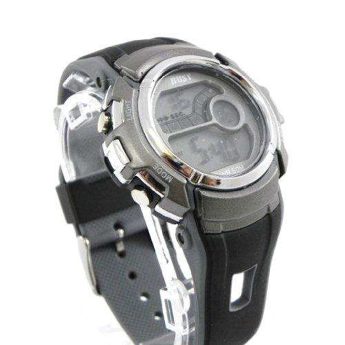 Wrist-watch-sport-Busy-gray-black