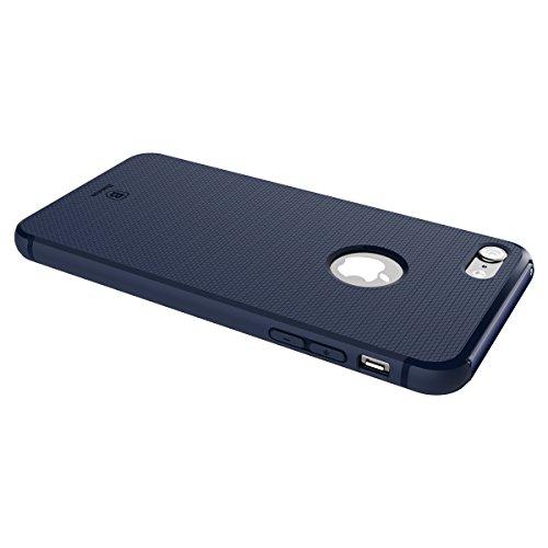 Coque iPhone 7, IVSO iPhone 7 Housse Etui TPU Silicone Case Coque avec auto stand pour Apple iPhone 7 (Rose) bleu