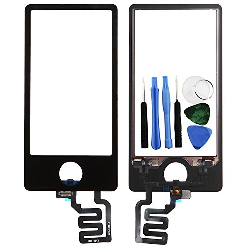 BisLinks® Schwarz LCD Touch Bildschirm Digitizer Assembly Ersatz Für iPod Nano 7 7th Gen - Digitizer Ipod Touch