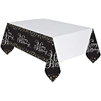 amscan Sparkling Gold Celebration Happy Birthday Plastic Tablecover