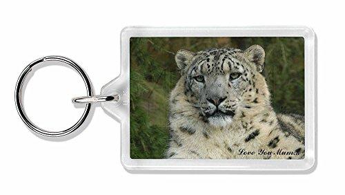 Snow Leopard 'Love You Mum' Foto Schlüsselbund TierstrumpffüllerGeschenk