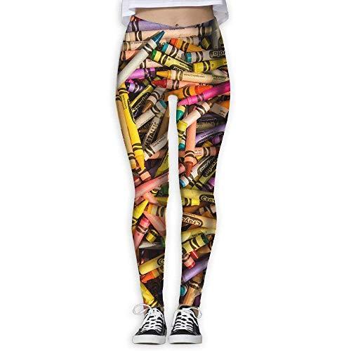 QIAOJIE-High Waist Ultra Soft Lightweight Leggings, Women's Colorful Crayon Yoga Pants Fashion Comfy Yoga Capris Power Flex Running Pants Workout Leggings