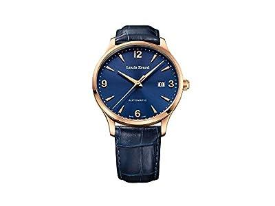 Louis Erard 1931 Automatic Watch, PVD Rose Gold, Blue, Leather, 69219PR15.BRC84