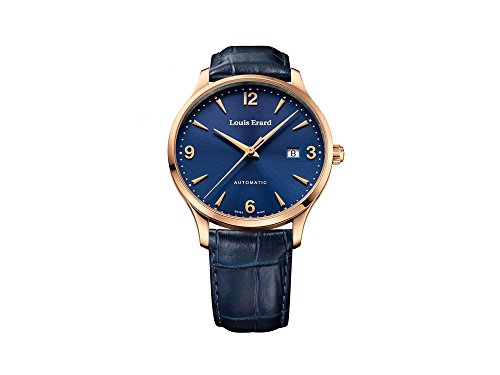 Louis Erard 1931 Automatic Watch, PVD Rose Gold, Blue, Leather, 69219PR15.BRC84