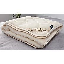 CARO 100% lana Merino australiano colchón Reversible manta de lana de cachemira, atlos tamaño