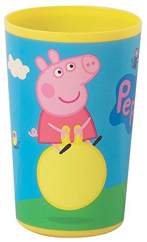 FUN HOUSE 005171 Peppa Pig Verre pour Enfant Polypropylène Bleu 6,5 x 6,5 x 10 cm