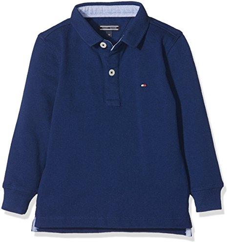 Blau L/s Polo (Tommy Hilfiger Jungen Poloshirt Ame Tommy Polo L/S, Blau (Blue Depths 406), 98 (Herstellergröße: 3))