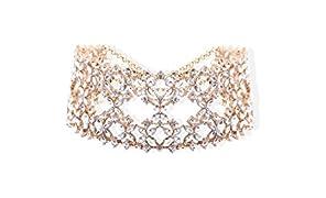 Bellofox® Designer Jewellery Golden Choker Necklace for Women