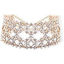 Bellofox Choker Necklace for Women (Golden)(BN1360)