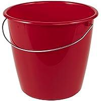 OK Eimer mit Metallbügel, 5 L, Polypropylen, My Red, 26 x 20 x 26 cm